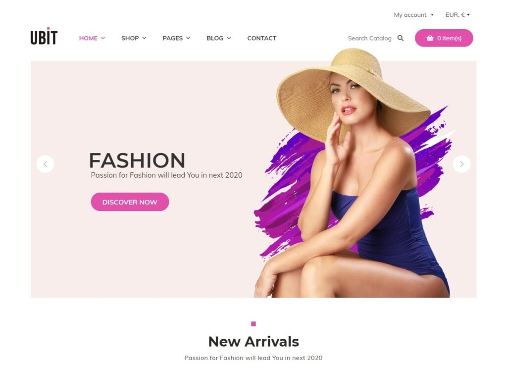 Ubit WooCommerce Elementor Fashion Shop Theme