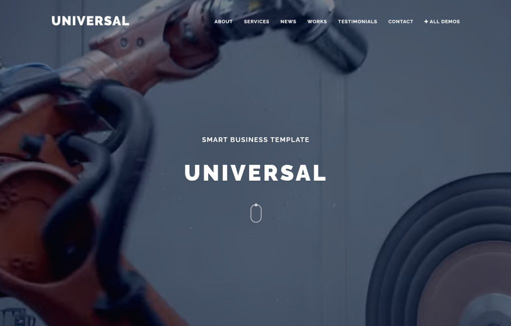 Universal One Page Full Screen Video Background Theme