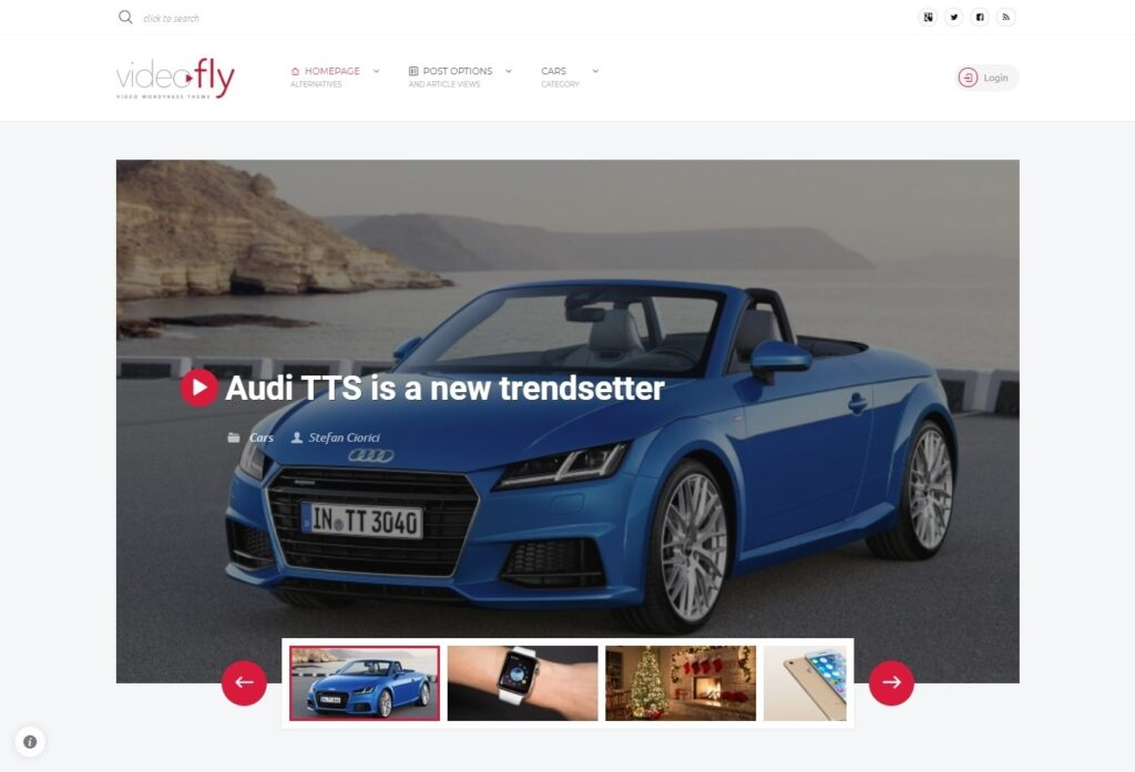 VideoFly WordPress Video Submission Web Template