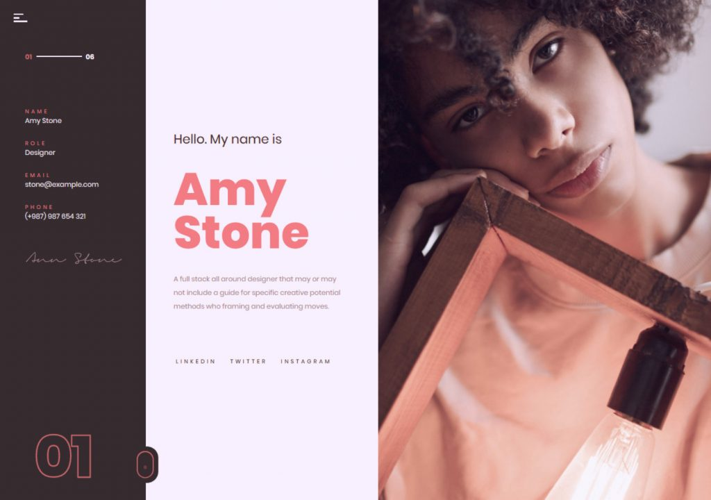 Volos Creative One Page Personal Portfolio Themes