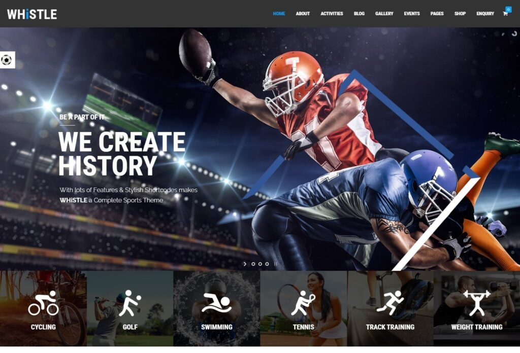 Whistle Sport Sports Magazine WordPress Theme