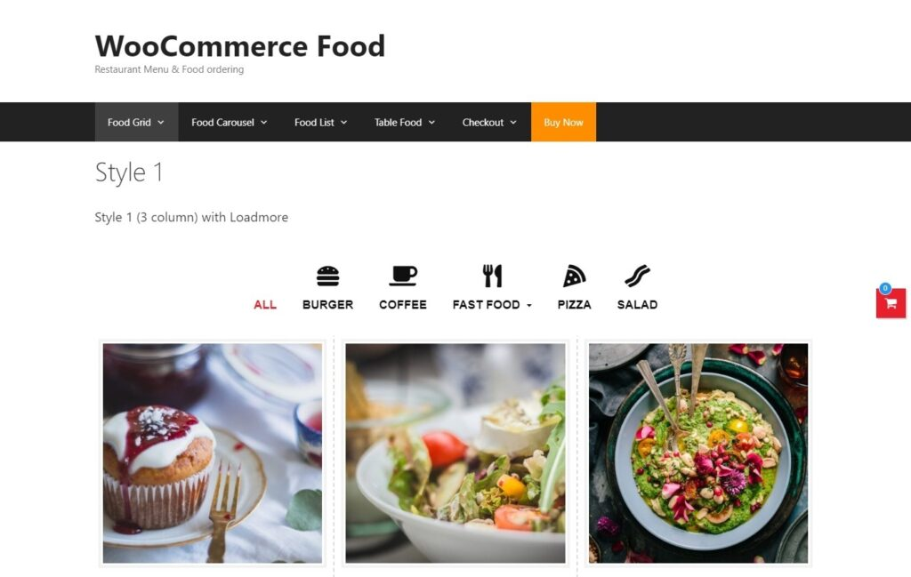 WooCommerce Food Plugin for Food Delivery