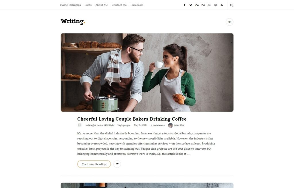 Writing WordPress Blog Theme with Unique Text