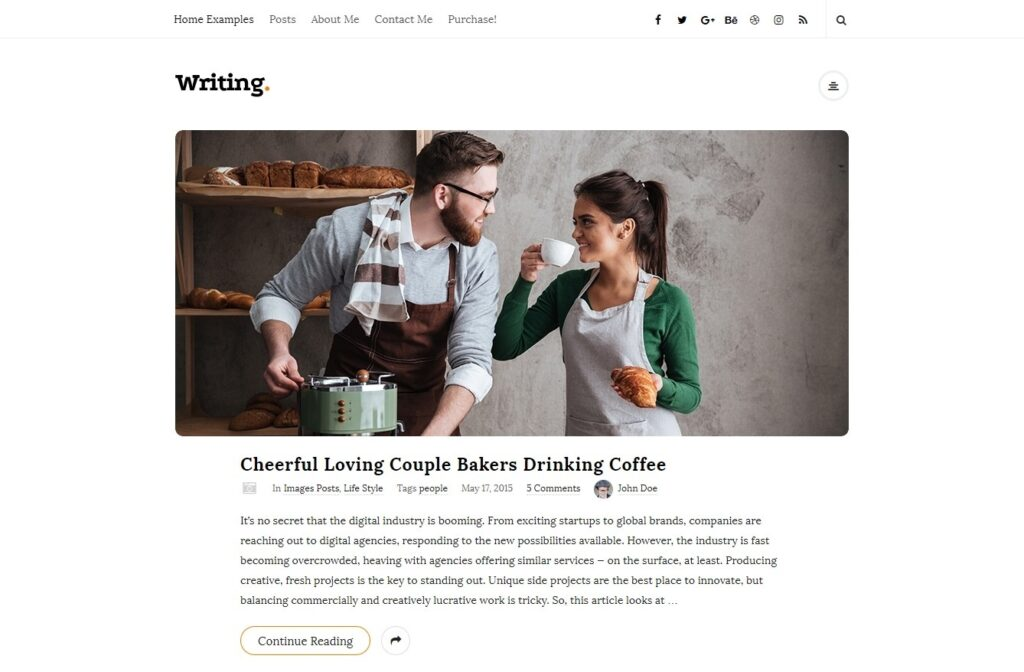 Writing WordPress Theme Similar to Medium Style