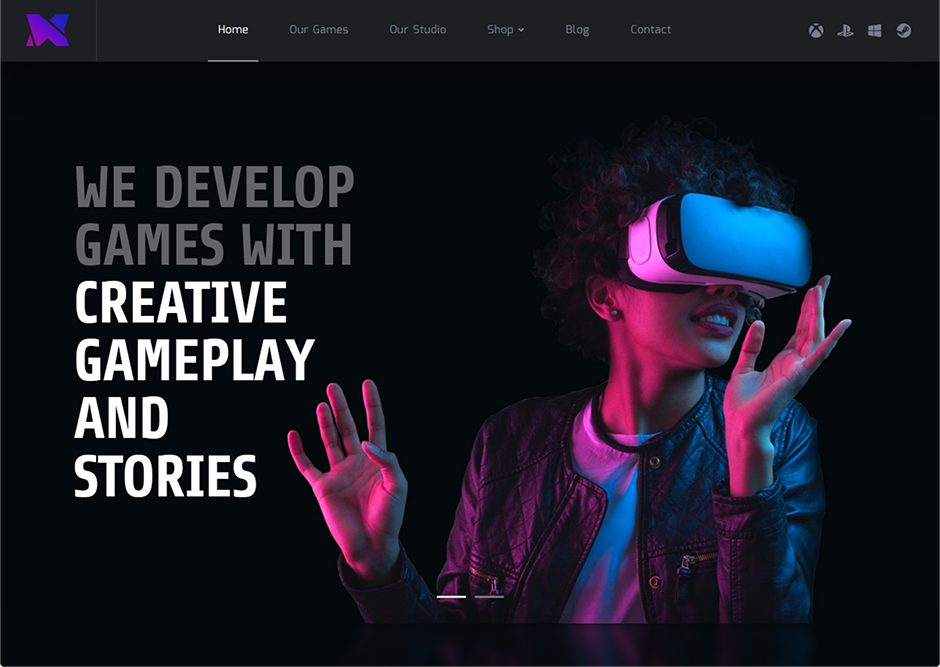 Xion Indie Game Developer WordPress Theme