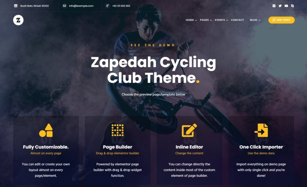 Zapedah Sports WordPress Theme