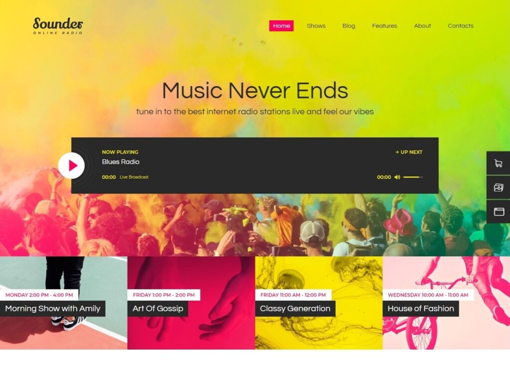 Sounder WordPress Radio Station Theme