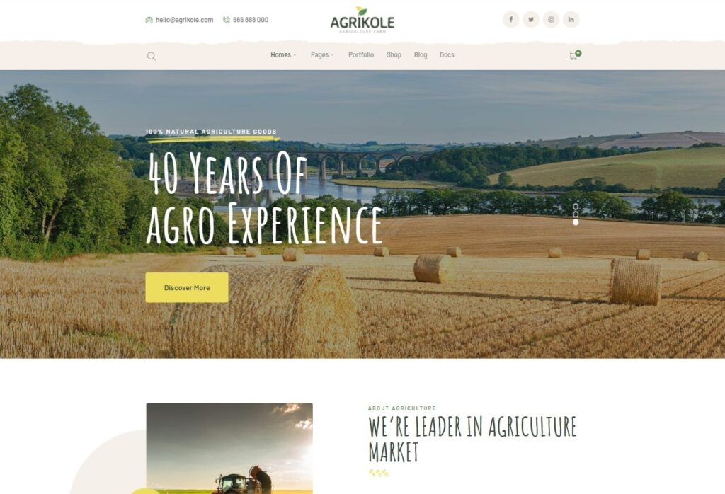 Agrikole _ Responsive WordPress Theme for Agriculture Farming Preview ThemeForest