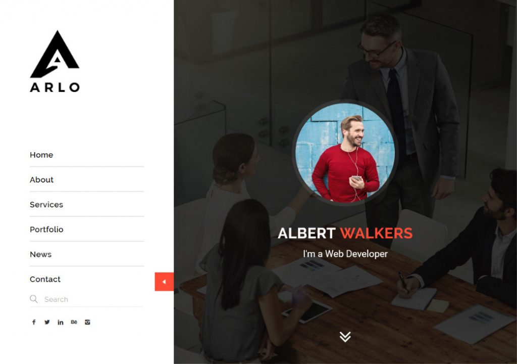 Arlo One Page Portfolio WordPress Theme