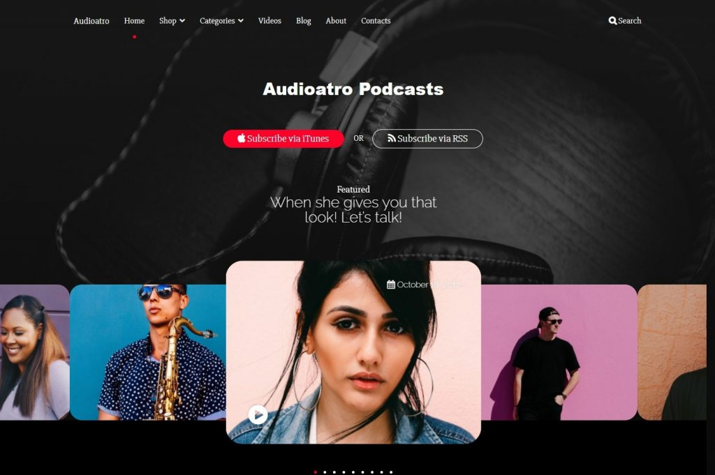 Audioatro – WordPress Audio_Podcasting_Music Theme