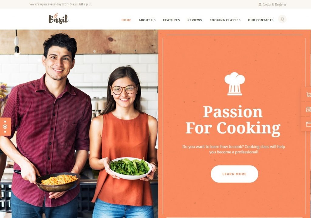 Basil WordPress Theme for Online Learning