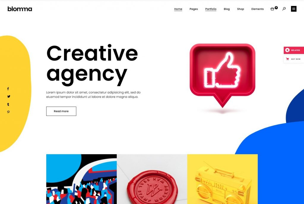 Blomma – Creative Agency and Portfolio Theme