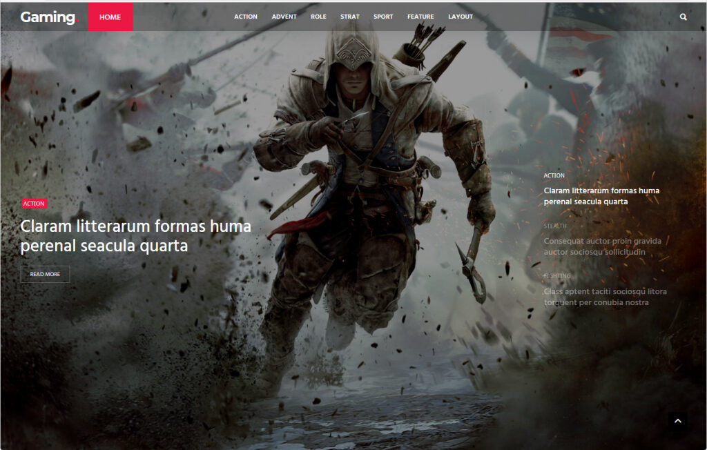 Coolist Popular WordPress Gaming Magazine e
