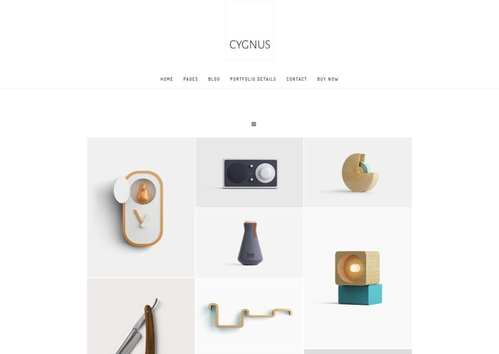 Cygnus Clean and Minimal WordPress Portfolio Theme