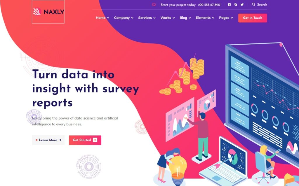 Data Analytics WordPress Themes