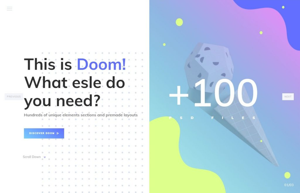 Doom - Multi-Purpose WordPress Theme Preview - ThemeForest