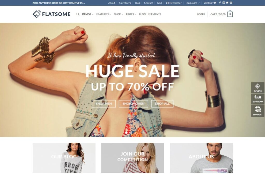Flatsome, Clean, Corporate Style eCommerce Theme
