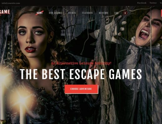 Exit Game WordPress Theme for Puzzle Rooms and Escape Rooms