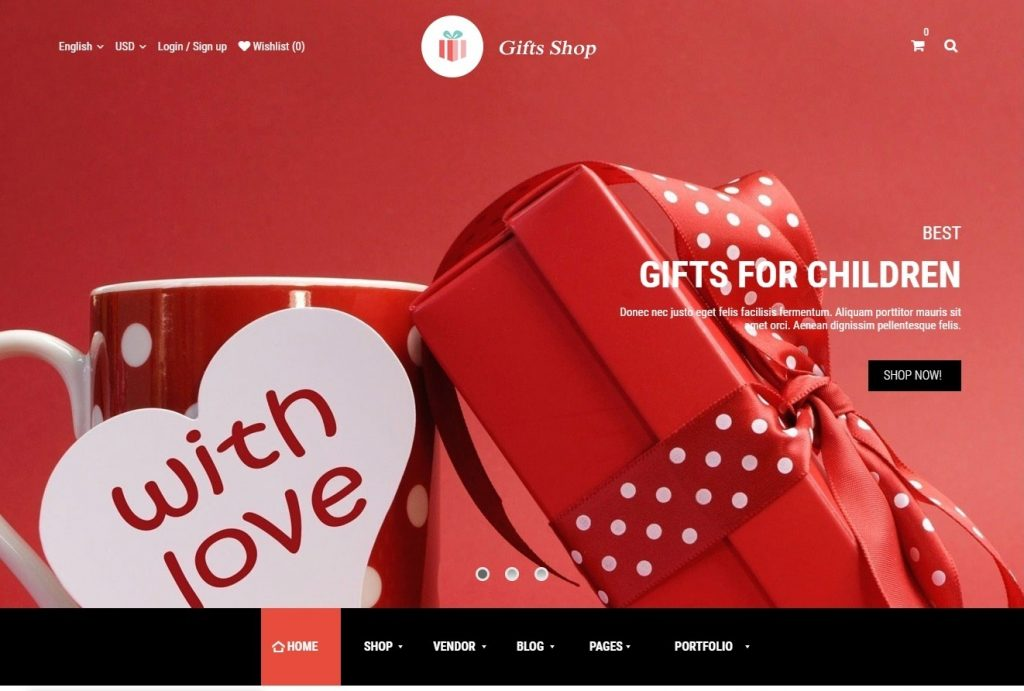 Gifts Shop WordPress Theme for Gift Giving