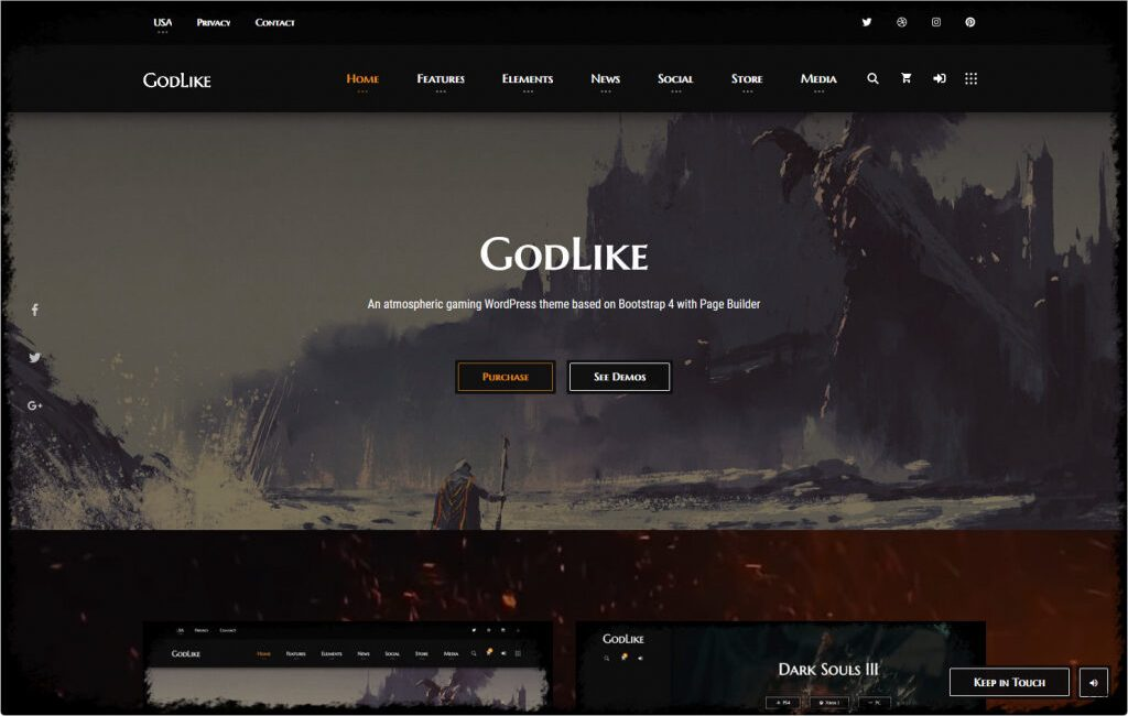 Godlike Gaming Clan And Magazine Theme e