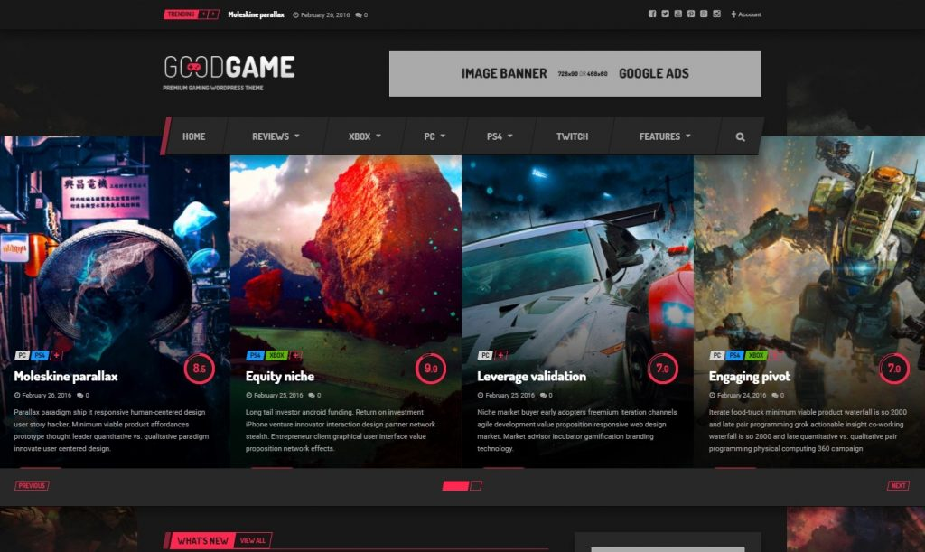 GoodGame - Twitch Integrated WordPress Gaming News Magazine Preview - ThemeForest