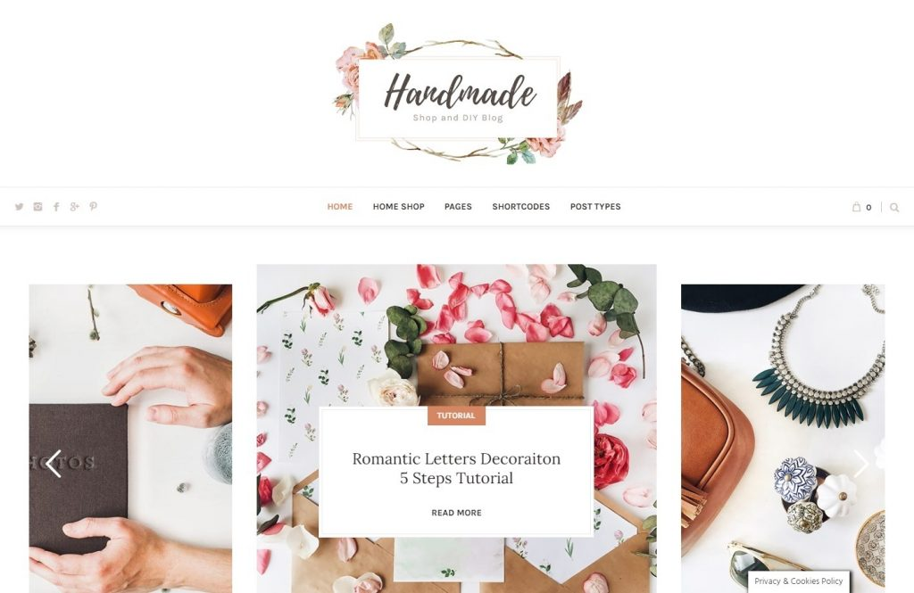 Handmade Shop Theme for Handmade Crafts and Projects