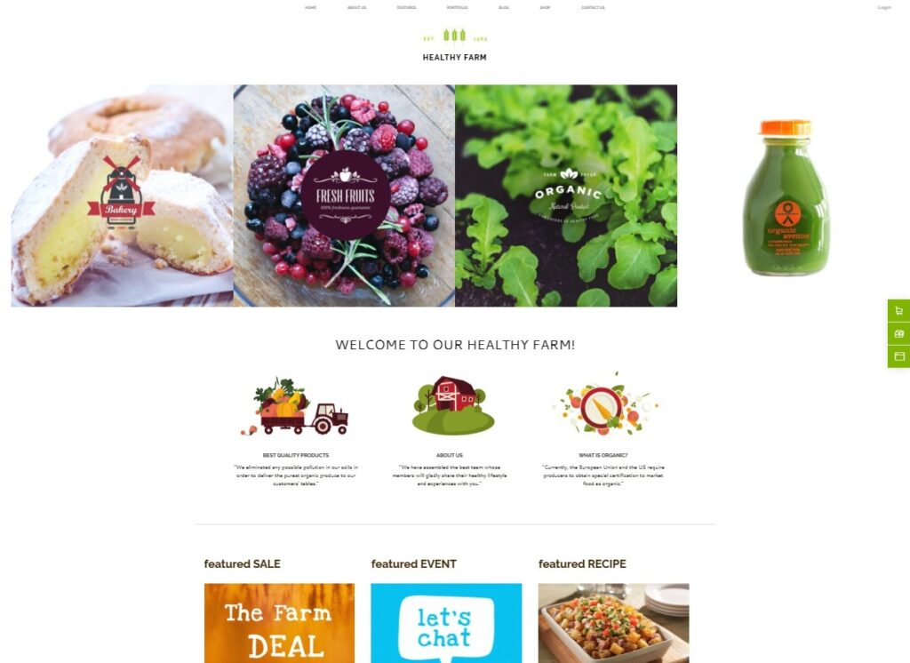 Healthy Farm _ Food Agriculture WordPress Theme Preview ThemeForest