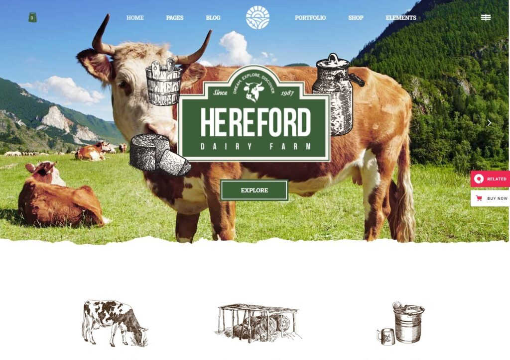 Hereford – Hereford – An Agriculture and Organic Food Theme e