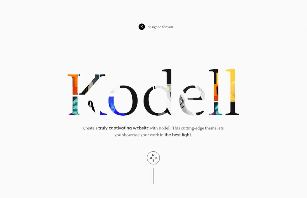 Kodell, Clean Graphic Design Homepage