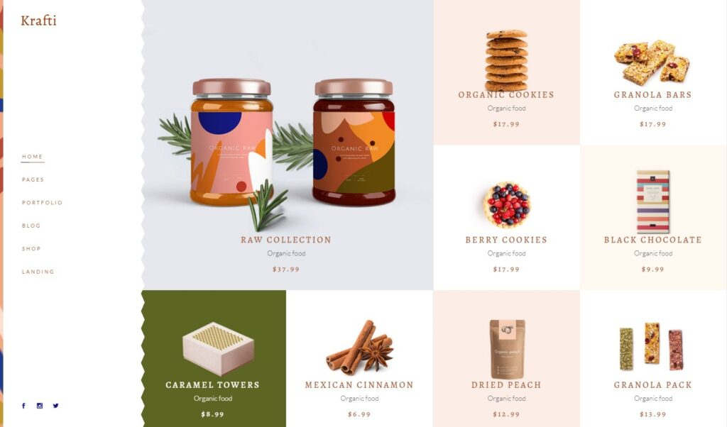 Krafti Metro Layout Online SHop Theme for Hand Crafted Goods