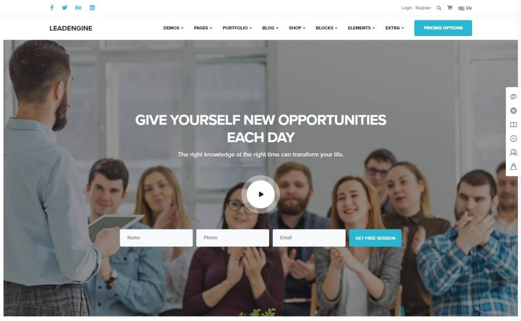 LeadEngine, Business Coaching and Life Coach WordPress Themes