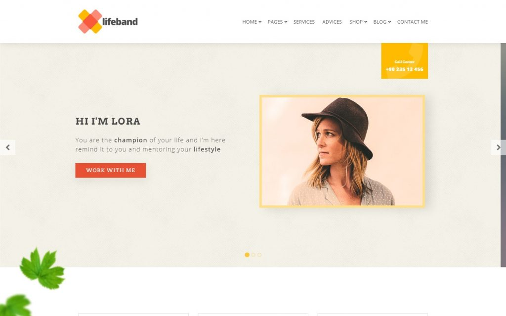 Lifeband Life Coach WordPress Theme
