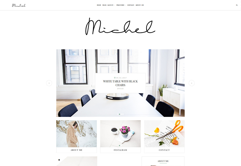 Michel Minimalist WordPress Grid Theme