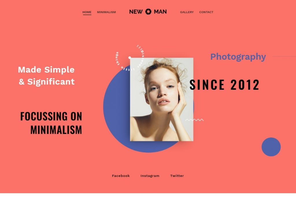 Newman Graphic Design and Photography Theme
