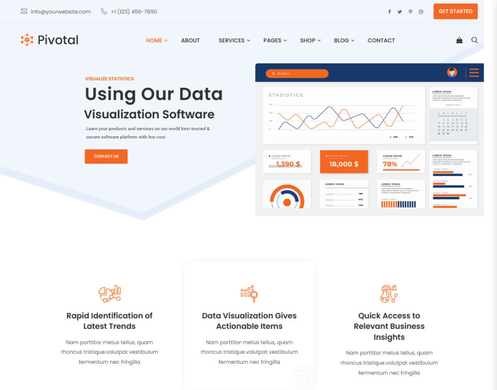 Pivotal Data Analysis WordPress Theme