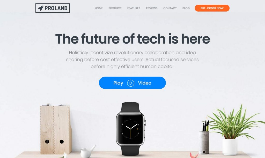 Proland, WordPress App and SaaS Landing Page Theme