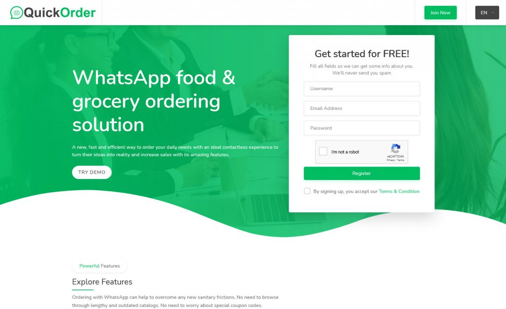 QuickOrder WhatsApp Ordering