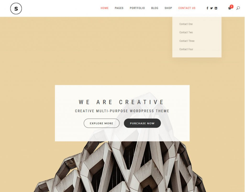 Seline Creative One Page Portfolio WordPress Theme