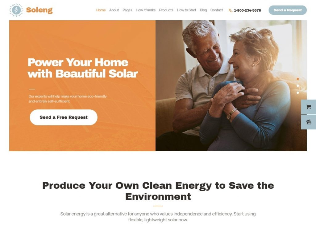 Soleng A Solar Energy Company WordPress Theme