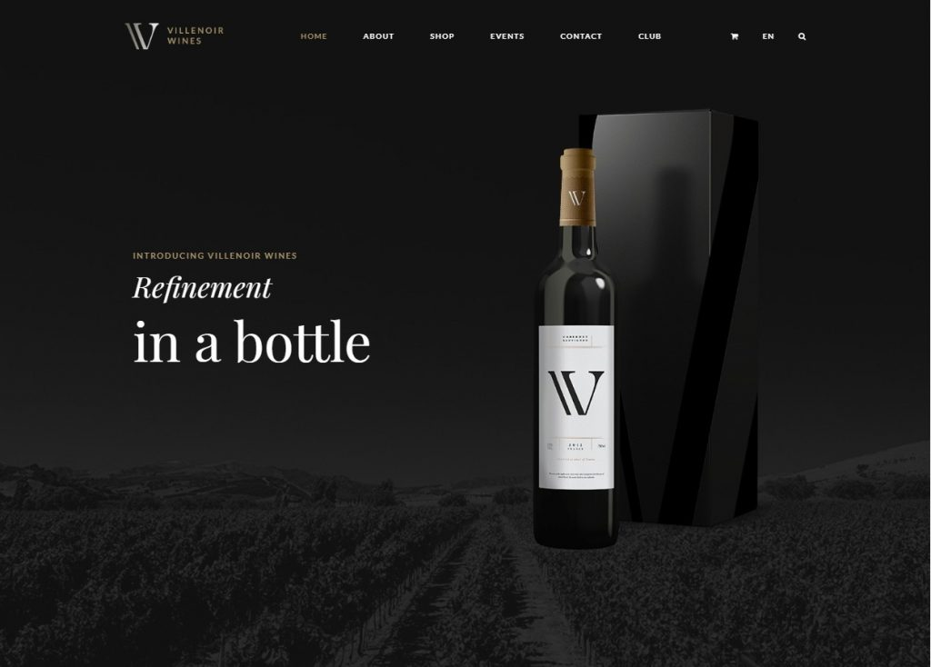 Villenoir Wine Maker WordPress Theme