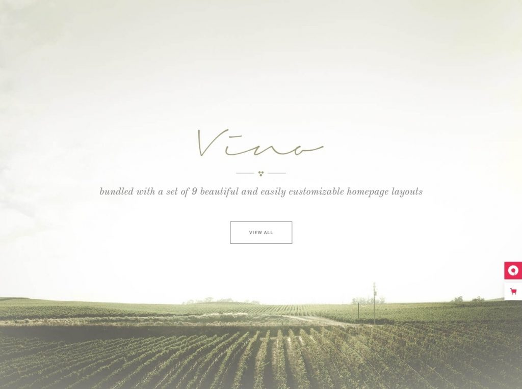 Vino Events Winery and Wine Shop WordPress Theme