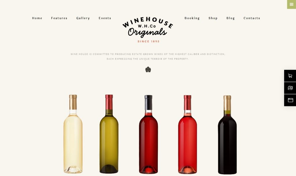 WineHouse WordPress Theme for Vinyards and Online Wine Shops