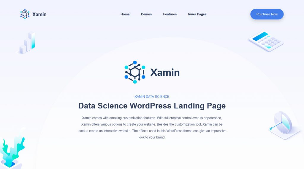 Xamin WordPress Data Analytics Theme