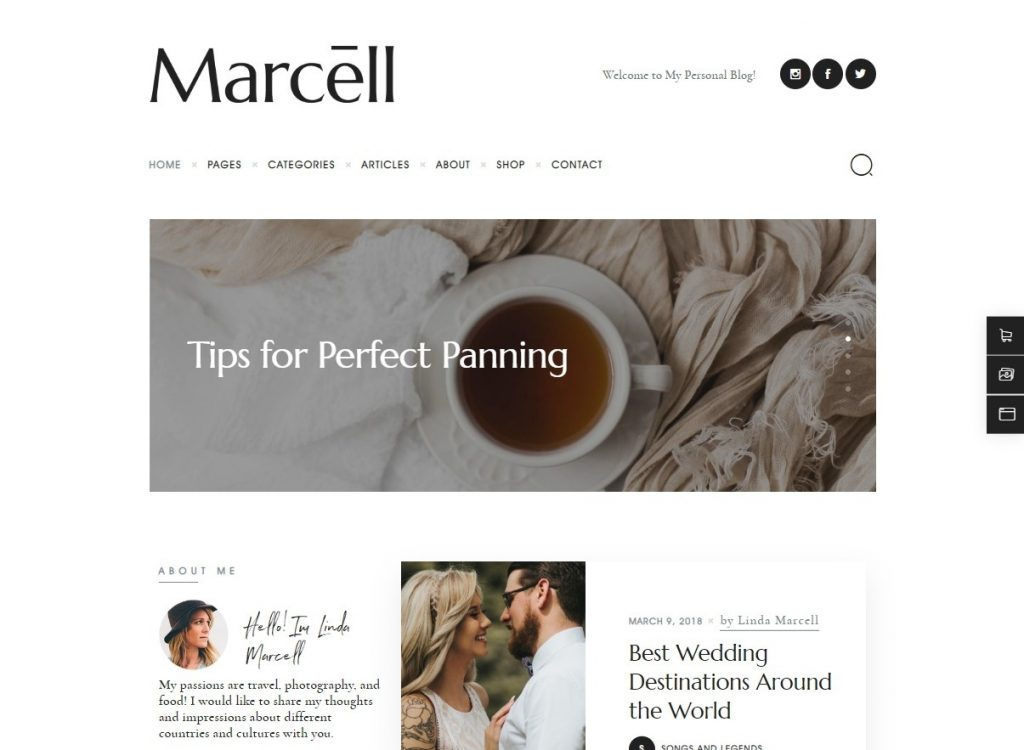 Marcell Minimal Personal Blog for Parenting and Lifestyle Bl